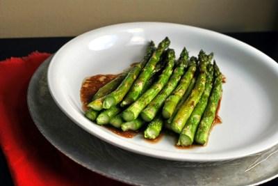 Balsamic Glazed Roasted Asparagus | Aunt Bee's Recipes