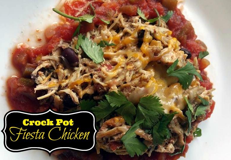 Fiesta Crock Pot Chicken   Aunt Bee's Recipes
