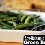 Soy-Balsamic Glazed Green Beans