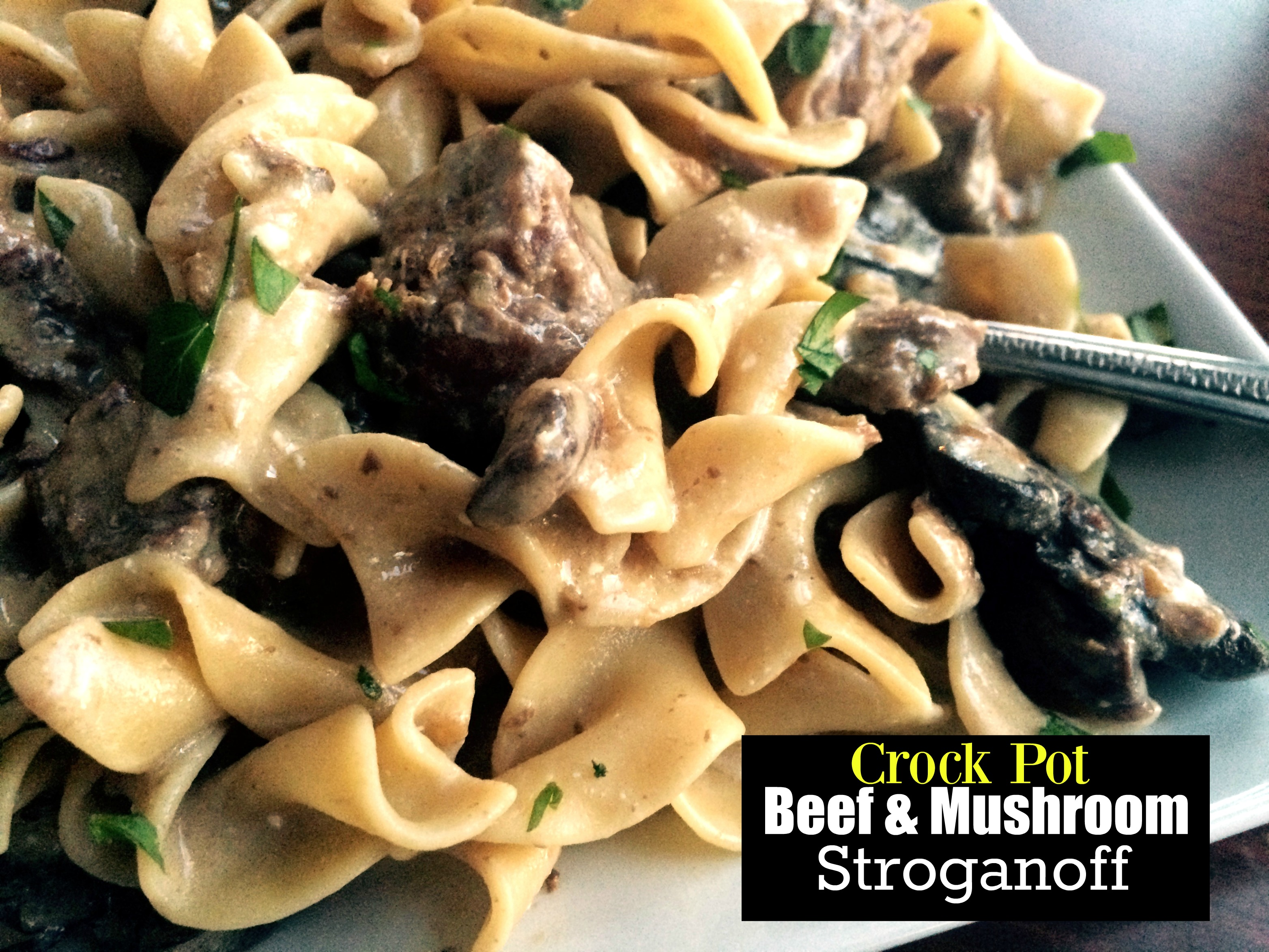 Crock Pot Beef & Mushroom Stroganoff