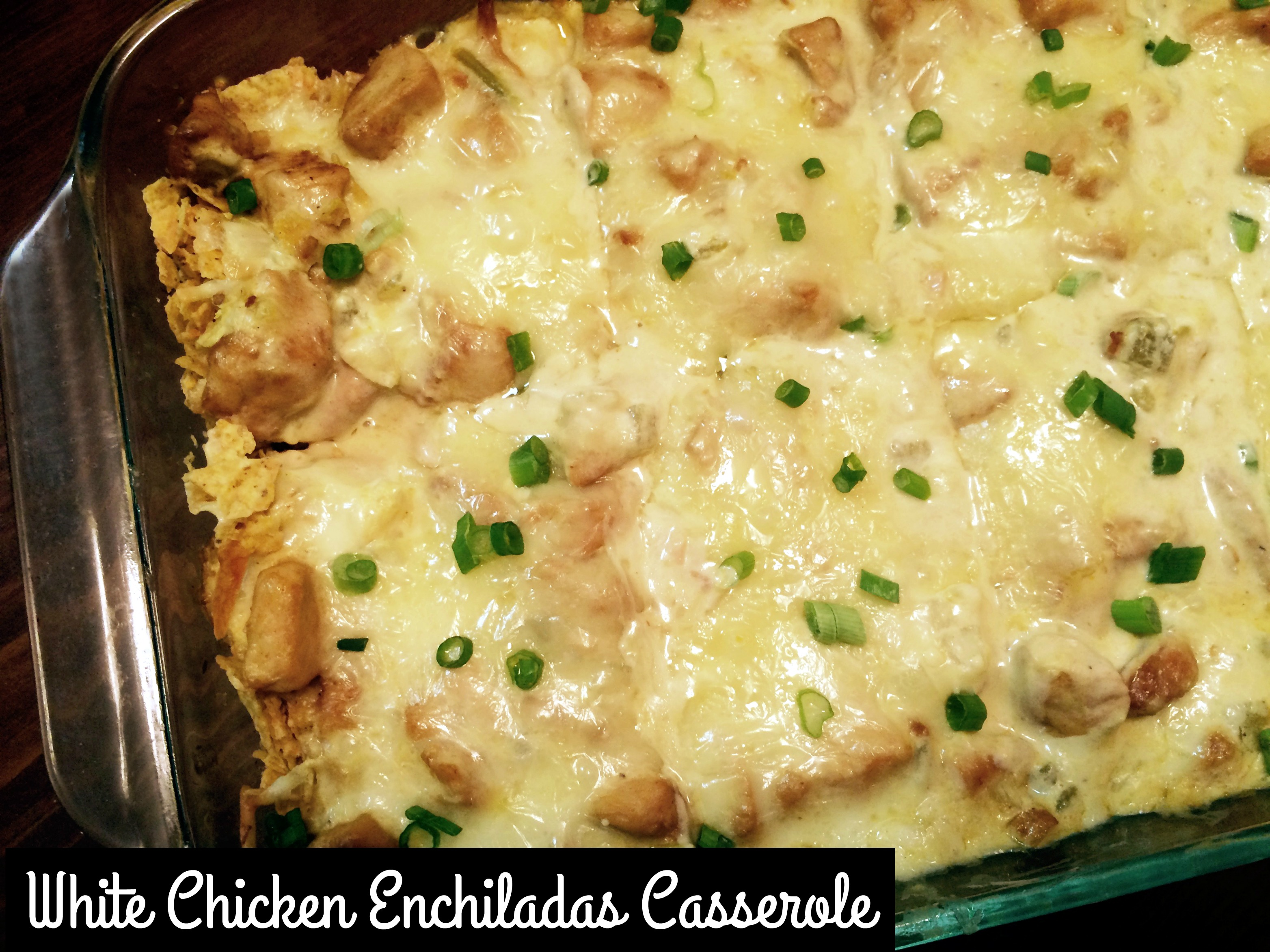 White Chicken Enchiladas Casserole - Aunt Bee's Recipes