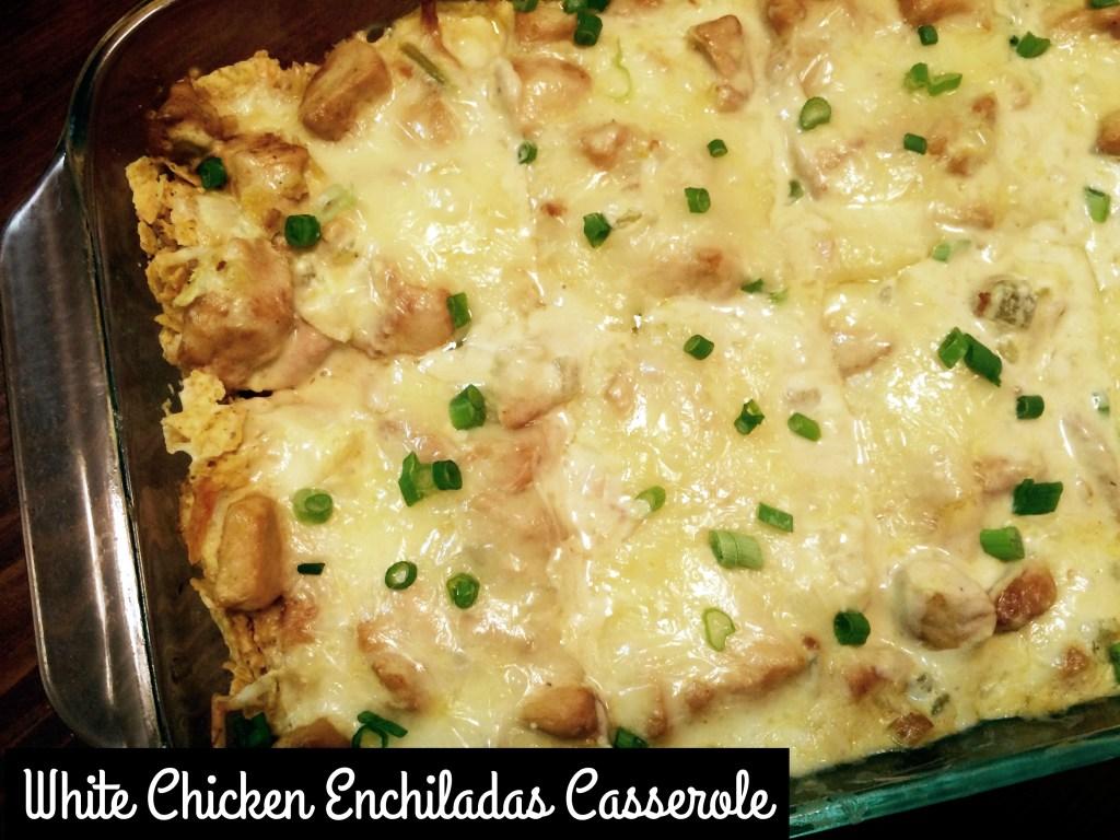 White Chicken Enchiladas Casserole | Aunt Bee's Recipes