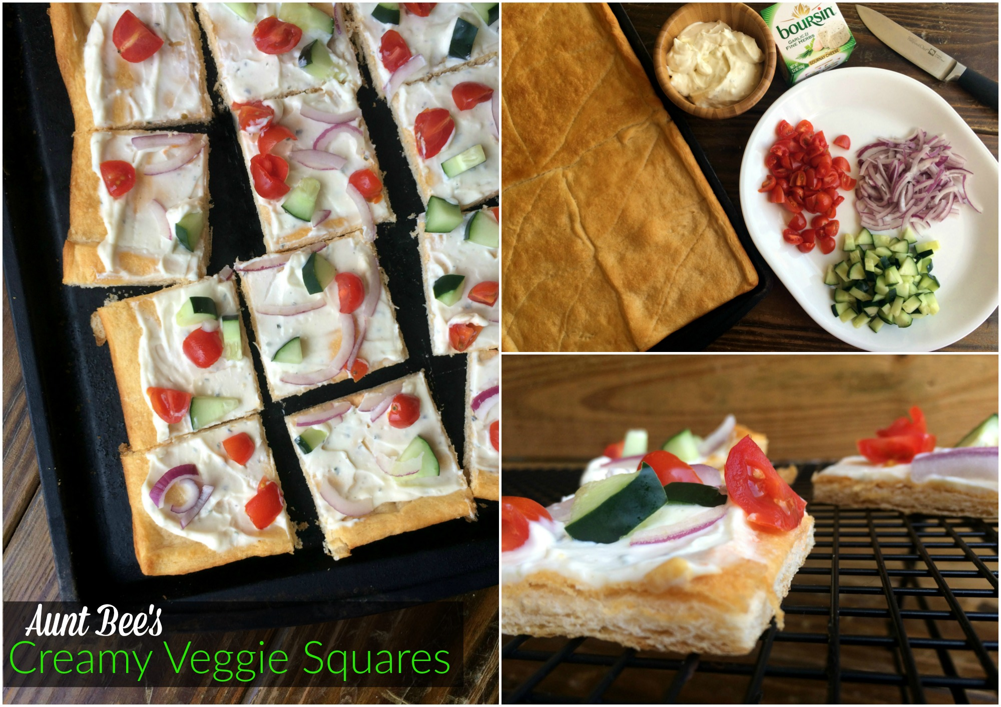 Creamy Veggie Squares