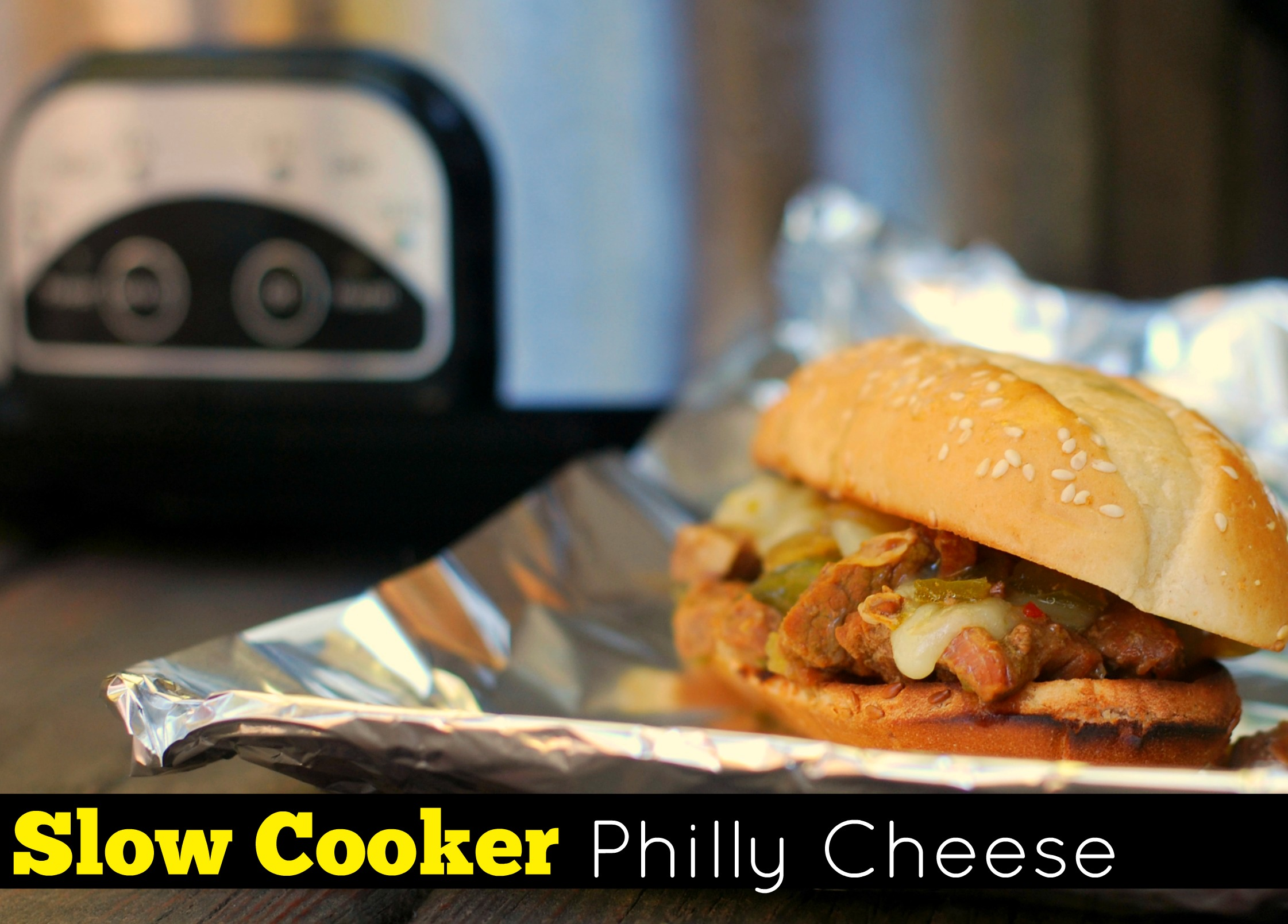 Slow Cooker Philly Cheese