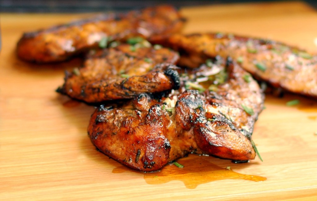 Jun 29,  · Grill the chicken until completely cooked through (about minutes per side depending on heat of the grill) Chicken should be at degrees F at its thickest part. Generously brush chicken with the reserved marinade mix as it grills.5/5(18).