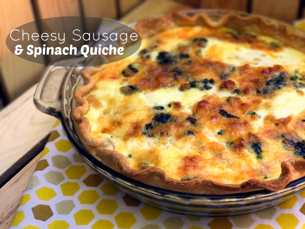 Cheesy Sausage & Spinach Quiche | Aunt Bee's Recipes