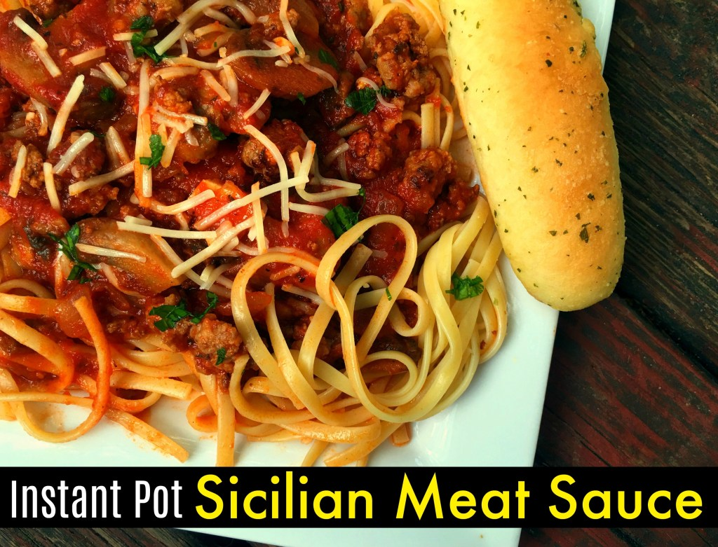 Instant Pot Sicilian Meat Sauce | Aunt Bee's Recipe