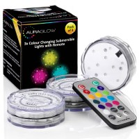 Remote Controlled Aqua Mood Lights - 3 Pack - Auraglow LED ...