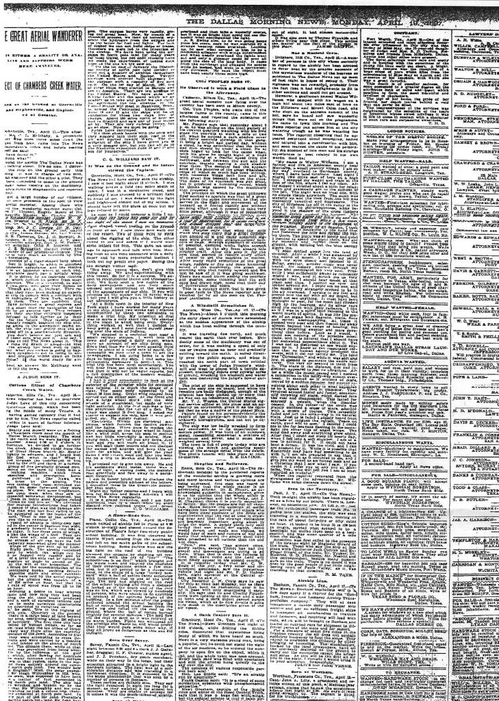 Newspaper page 04.19.1897