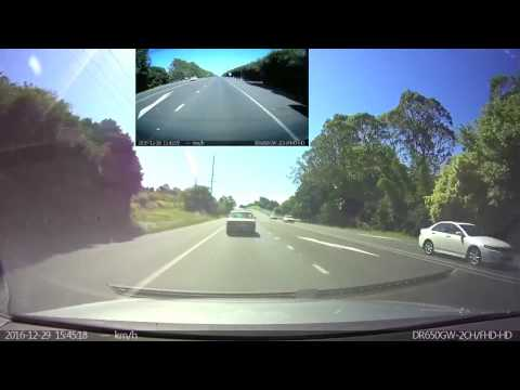 29-12-2016 - Speeding car loses control and takes out road signs, rolls (Alstonville, New South Wales)