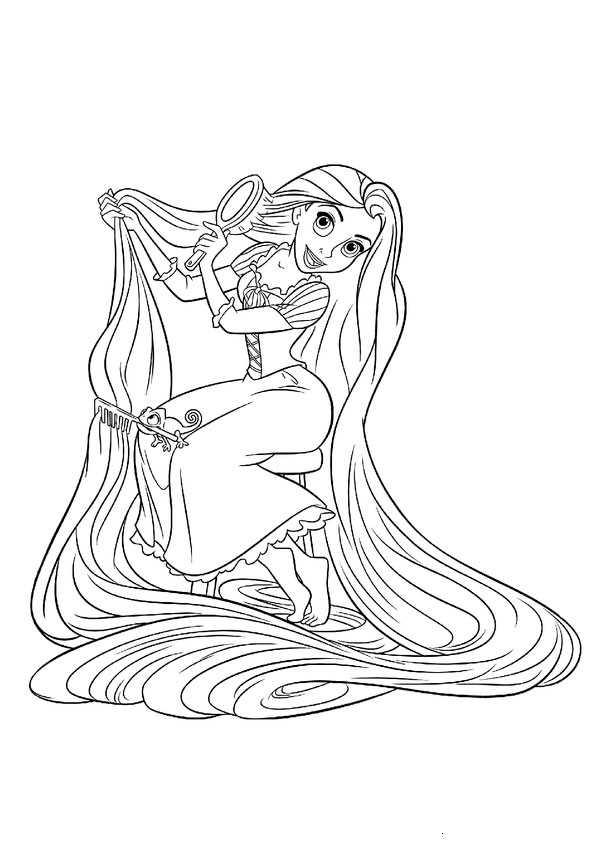 Rapunzel 19 Bilder Zum Ausmalen Auto Electrical Wiring Diagram