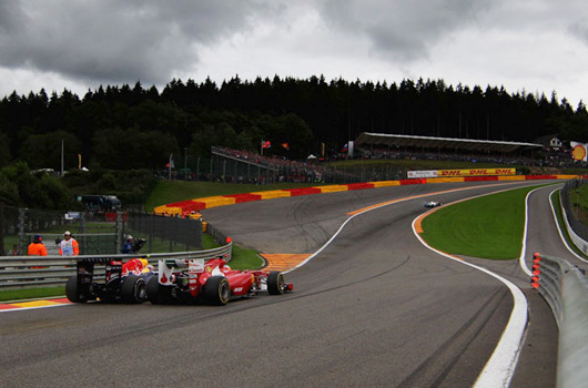 Girl Sprint Car Wallpaper Ausmotive Com 187 Webber On That Eau Rouge Move With Alonso