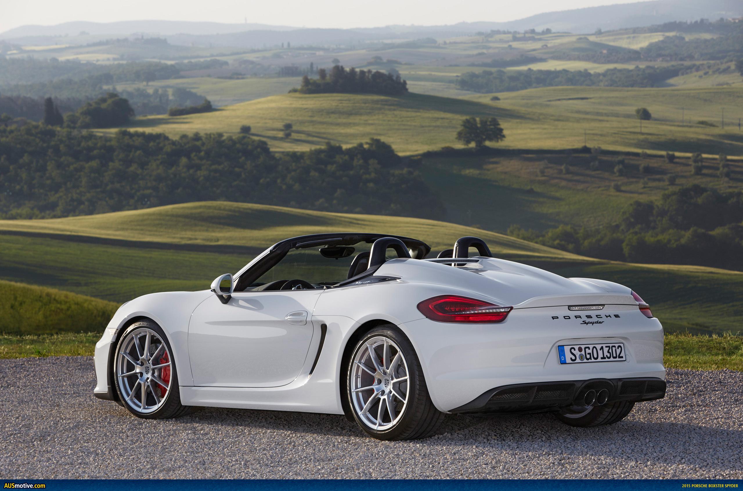Porsche Boxster Wallpaper Hd Ausmotive Com 187 2015 Porsche Boxster Spyder In Detail