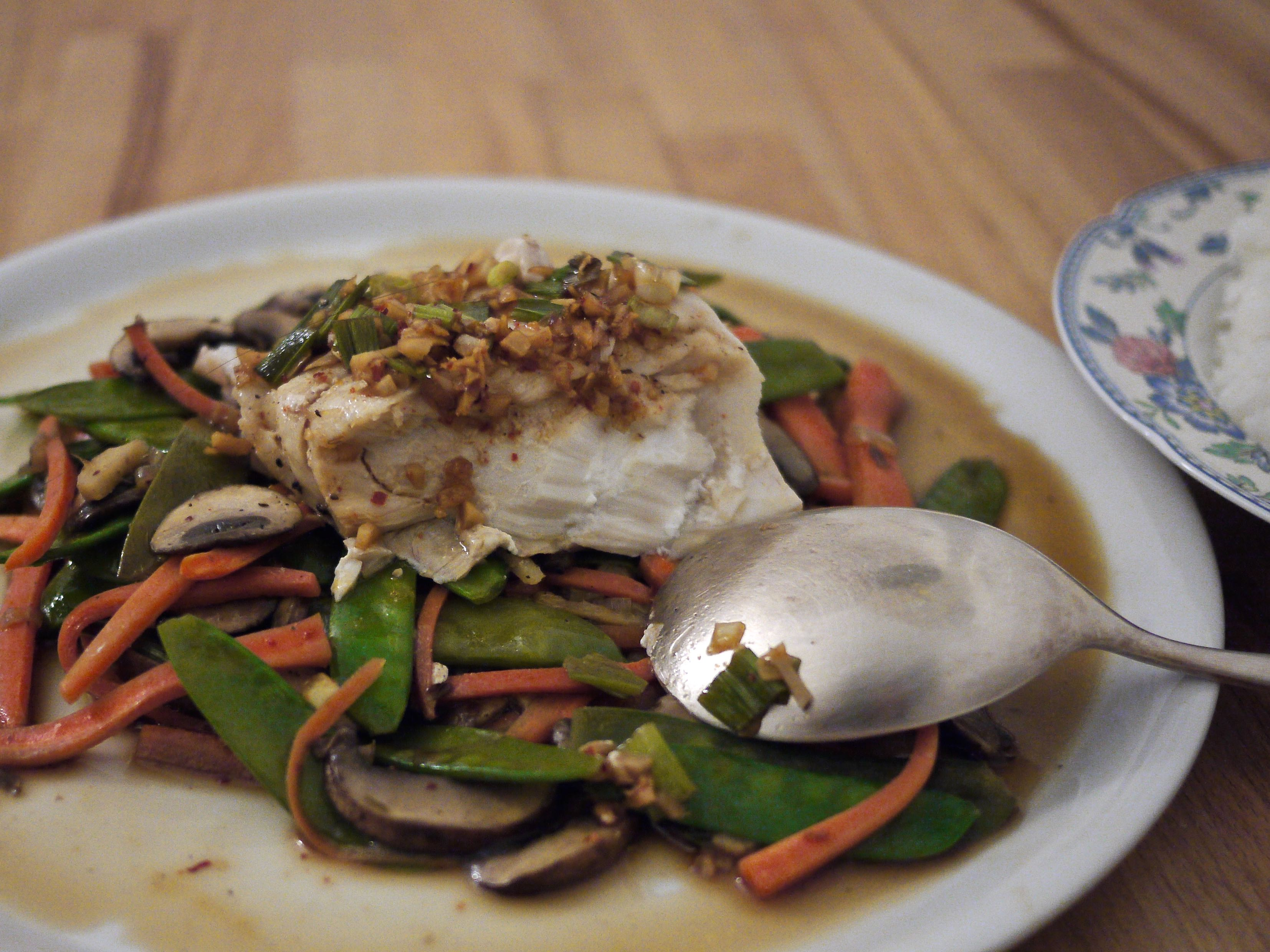 Chinese style steamed fish ausplendor for Chinese steamed fish recipe