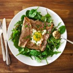 paleo chestnut crêpes complètes (with ham and egg)
