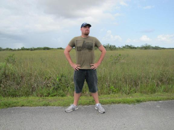 Standing in the Florida Everglades