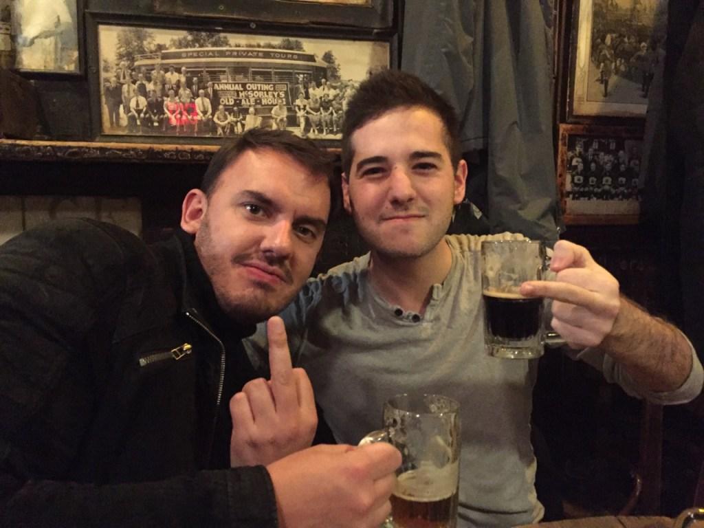 drunk guys mcsorleys nyc