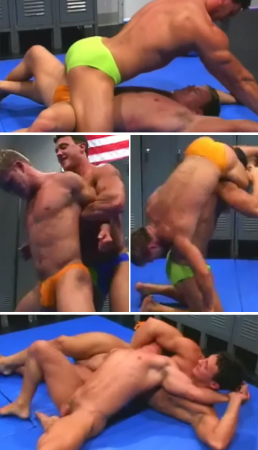 Gay wrestling softcore video