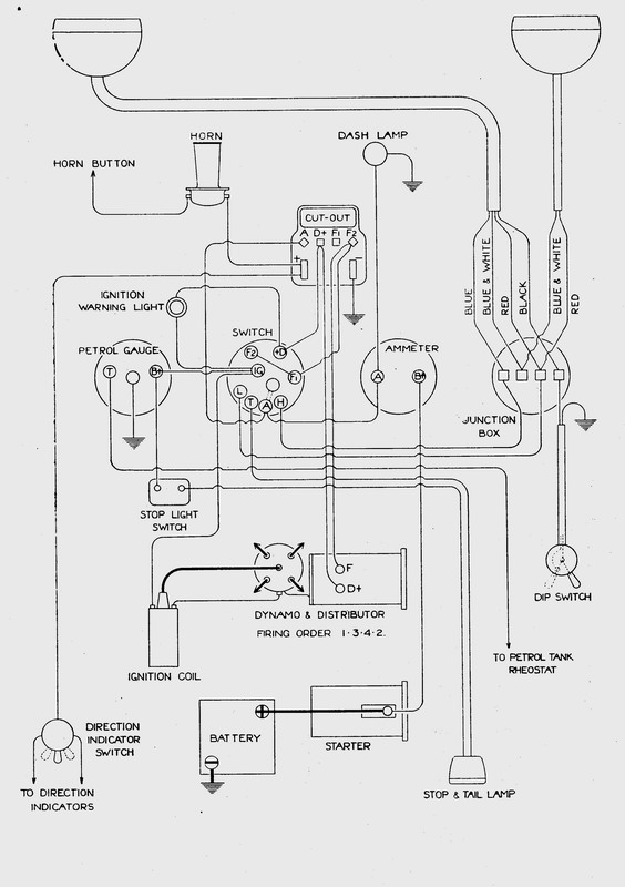 73 corvette points ignition wiring diagram