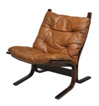 DANISH MODERN LEATHER CUSHIONED SLING CHAIR - Magnificent ...