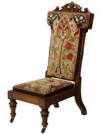 FINE MAHOGANY FRAMED PRAYER CHAIR - Spectacular Carved ...