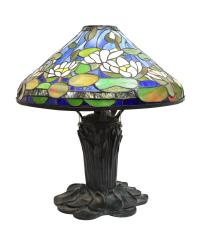 TIFFANY STYLE STAINED GLASS DAFFODIL SHADE LAMP - May ...