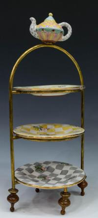 (4) MACKENZIE-CHILDS THREE-TIERED CAKE STAND - February ...