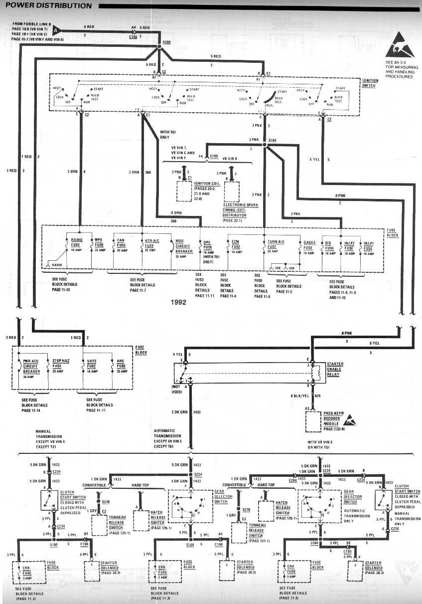 third generation camaro wiring diagram