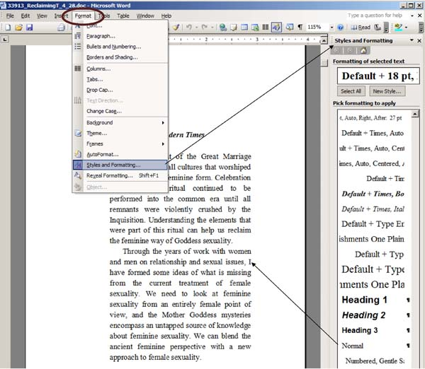 Format a Word Doc for eBook Conversionu20145 Resources - Publishing - microsoft word book template