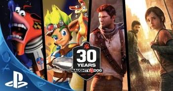 Naughty Dog 30th Anniversary Video Promo