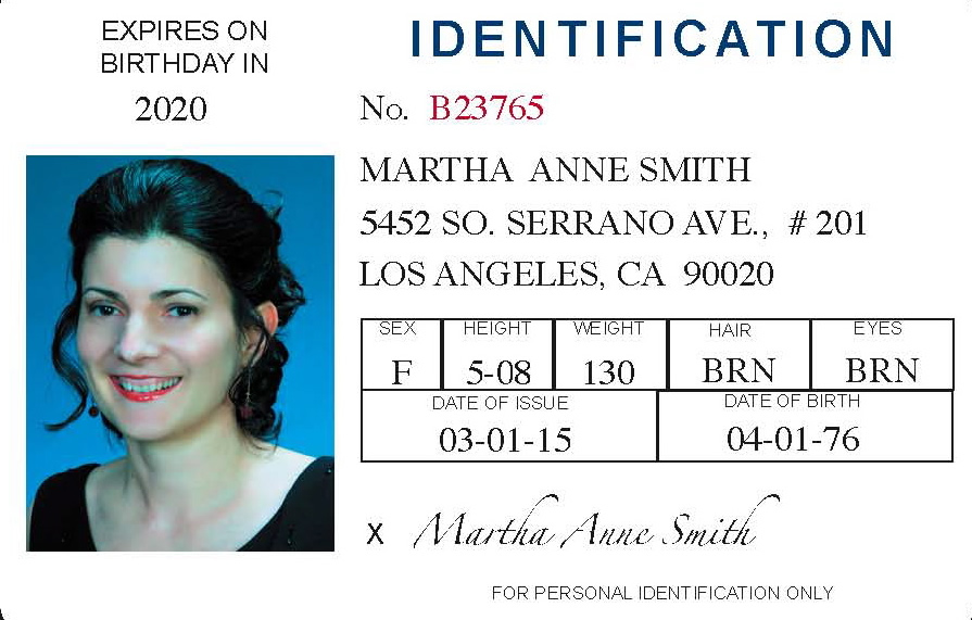 id cards for all - sample id cards