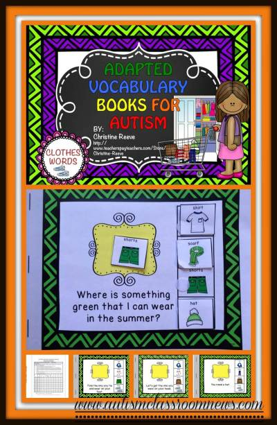 Adapted Interactive Books for Teaching Vocabulary - Autism Classroom Resources