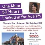 Mum spends 50 hours locked in glass box for autism awareness
