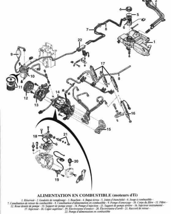 renault schema moteur megane