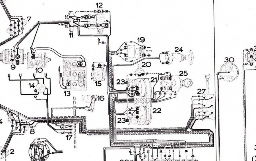 ignition schema cablage for a 1955