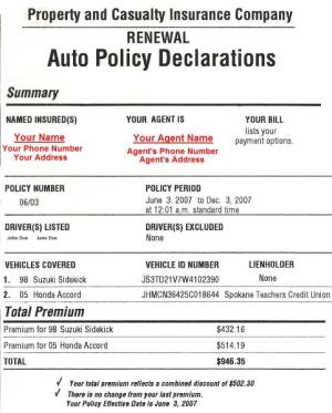 No Known Loss Letter And Prior Insurance Declaration Auto Insurance Policies Release Date Price And Specs