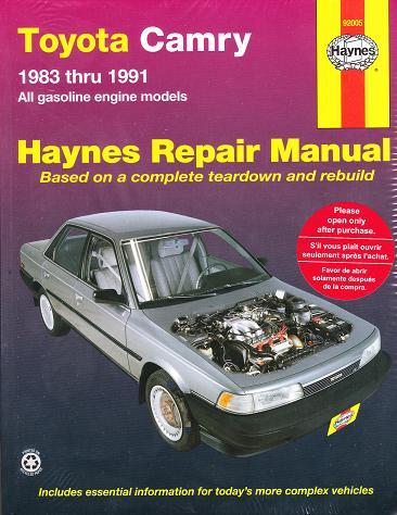 1983 - 1991 Toyota Camry Haynes Repair Manual