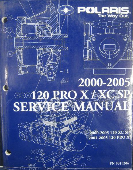 2000-2005 Polaris 120 XC SP, 2004-2005 120 Pro X Snowmobile Repair