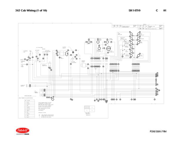 1981 - 2005 Peterbilt 362 Complete Electrical Wiring Diagrams