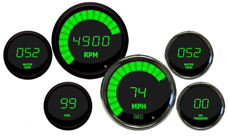Intellitronix LED Digital Gauges - Digital Speedometer Ships Free