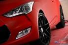 Hyundai Veloster 2012 vermelho Adesivagem Líquida (Envelopamento Líquido) Roda Aro 20