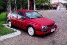 golf-1997-vermelho-fosco-rodas-brancas-aro-17-bbs-rebaixado-fender