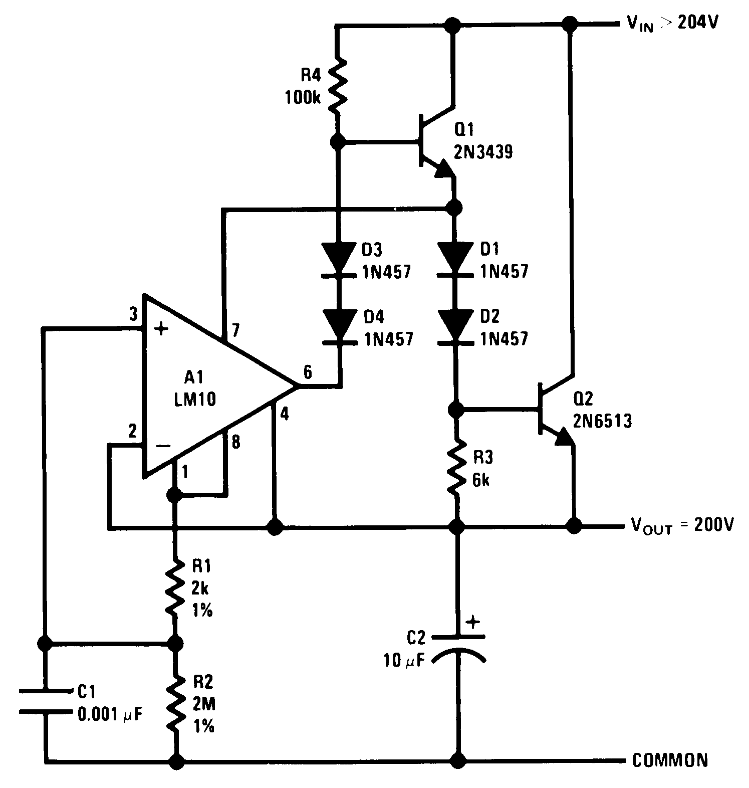 operational amplifier shunt regulator