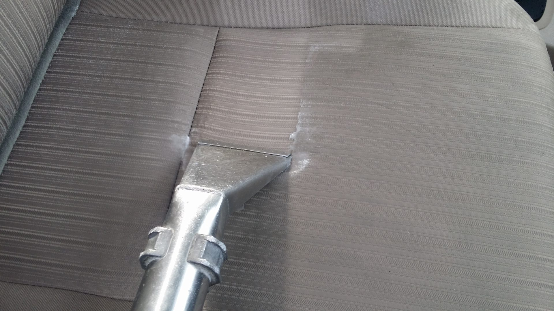 Steam Cleaning A Car Upholstery Seat