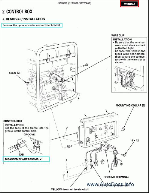 honda eu3000 generator wiring diagram