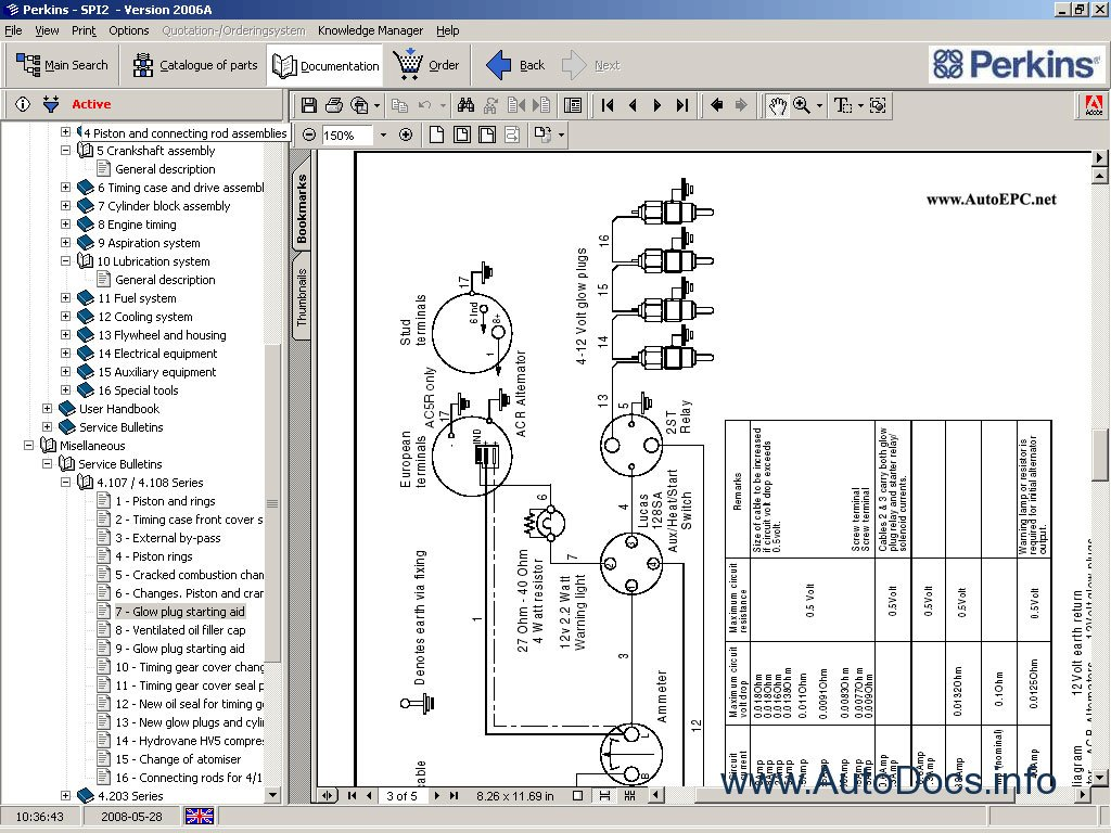 perkins series 100 wiring diagram