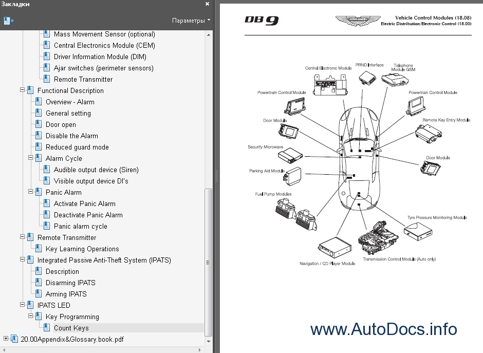 aston db9 wiring diagram