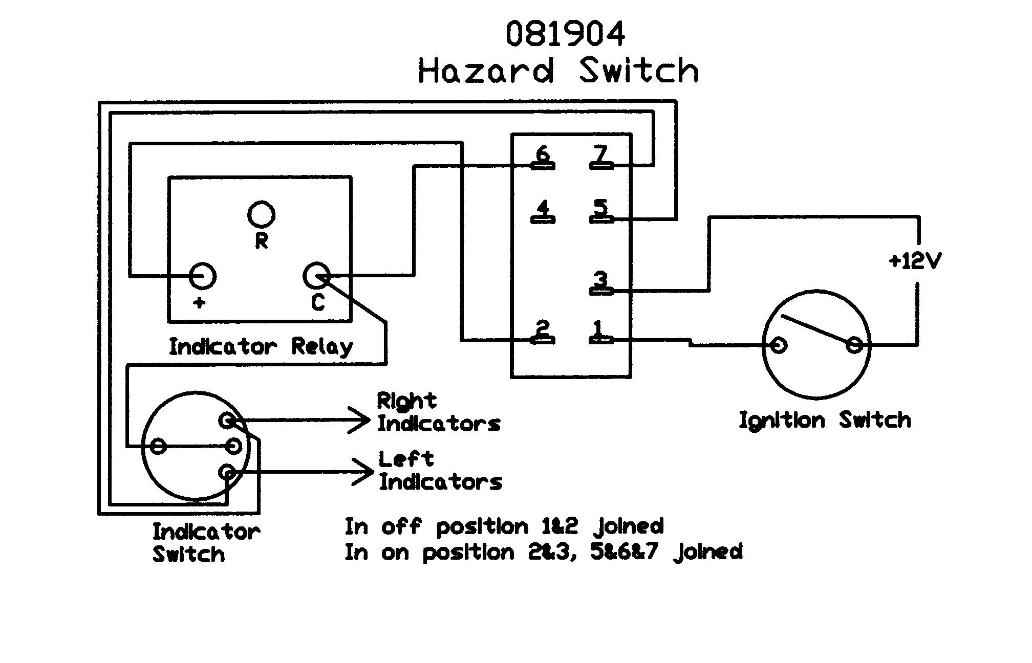 lucas hazard switch wiring diagram