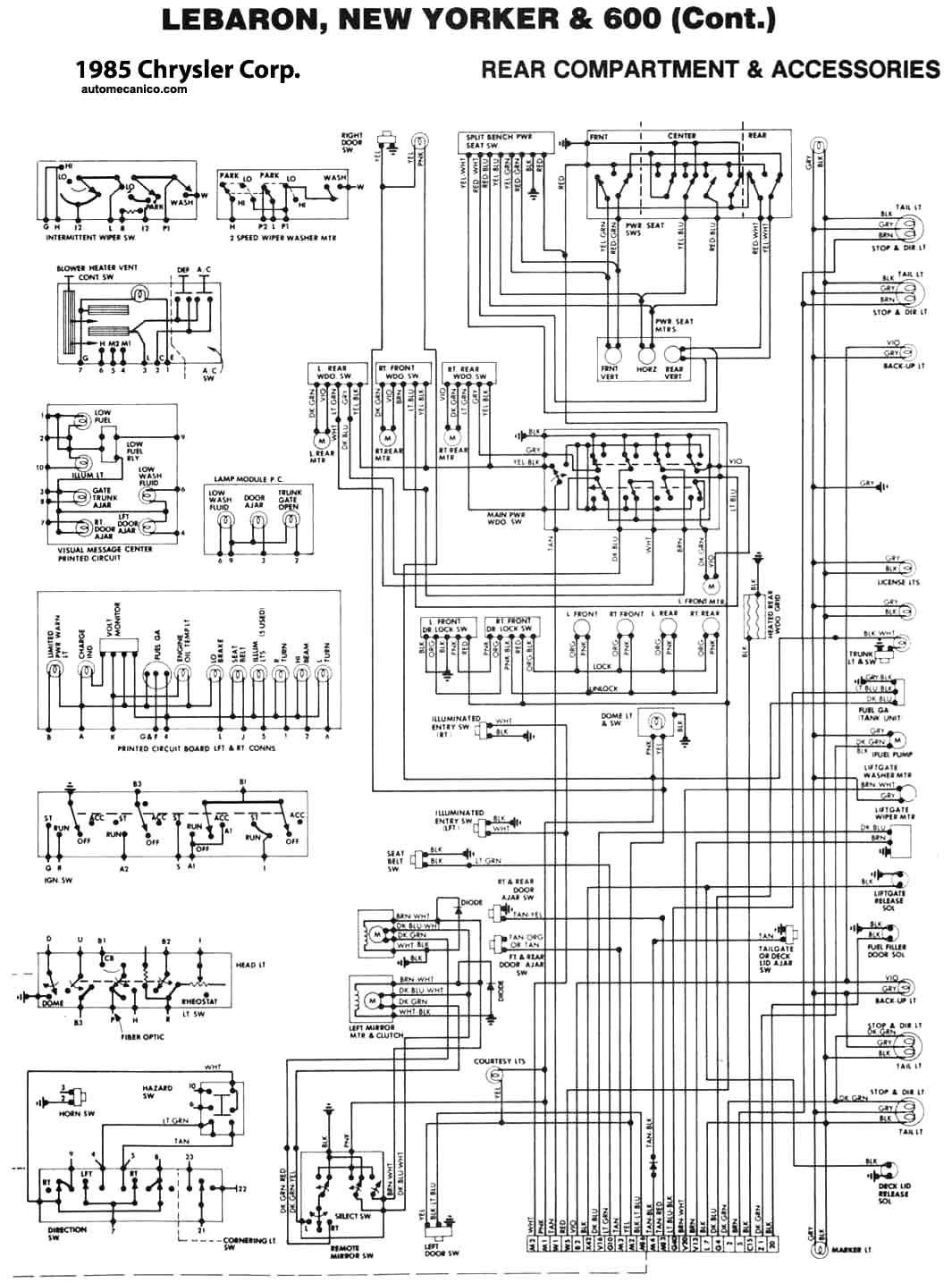 chrysler lebaron diagrama de cableado