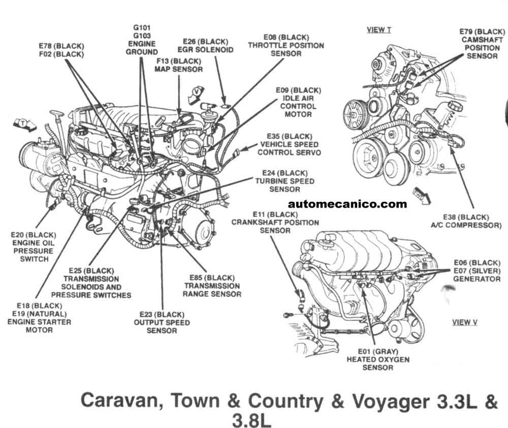1991 dodge caravan engine diagram